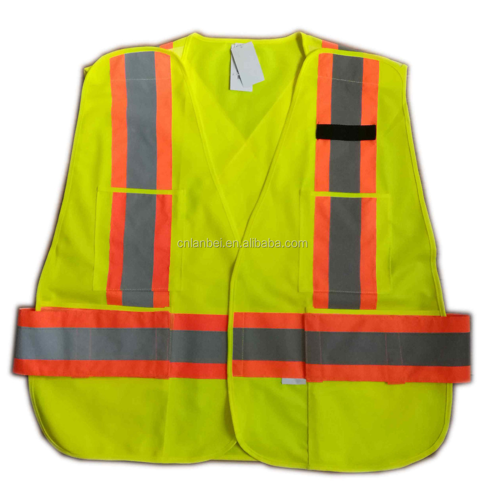Adjustable High Visibility Reflective Safety Vest Break Away Warning Jacket with EN ISO 20471