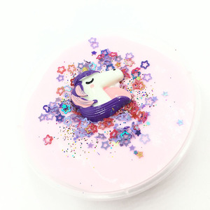 flakes slices fluffy slime manufacturer resin unicorn twist puff putty slime