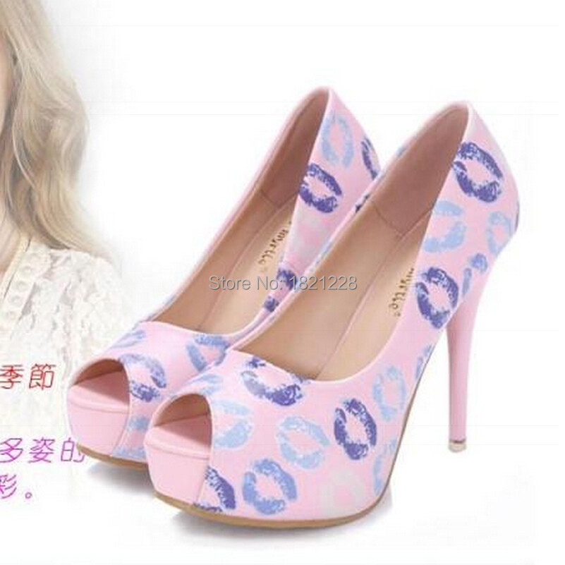 2015  Womens Bridal Dress Sexy Fish Head 12cm High Heel Shoes Wedding Platform Sexy Flowers Stiletto Heels Pumps Sandalsesale