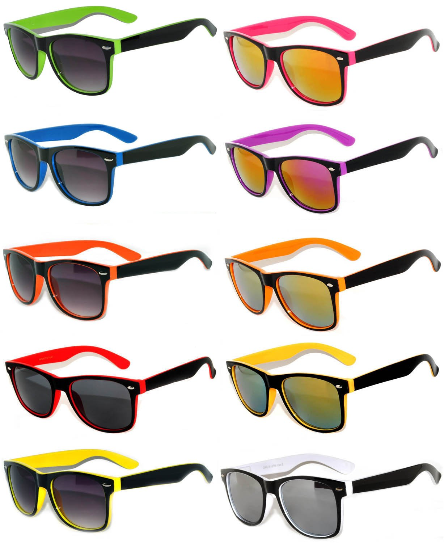43b0214a4b0f7 Get Quotations · Retro Vintage Two -Tone Sunglasses Mirror Lens Yellow