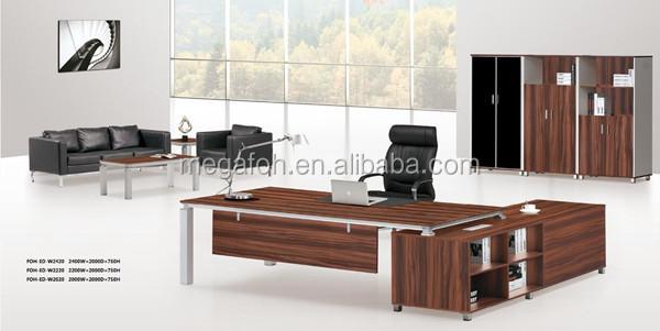 High end general manager executive table set mobilier de bureau