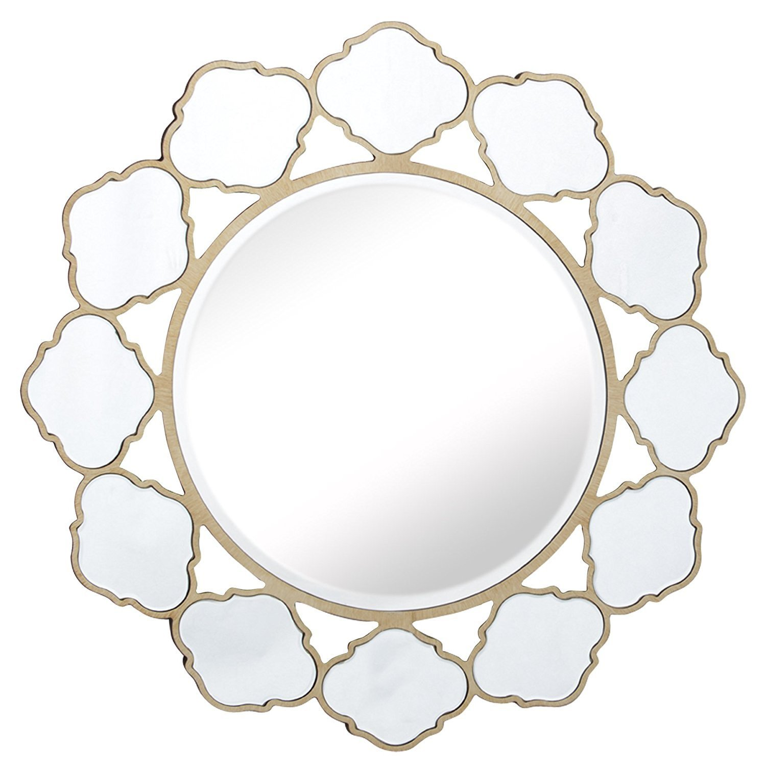Get Quotations Mirror Trend Large Vanity Flower Round Shaped Exquisite Handmade Wall Mount Mirrors For Home Decor