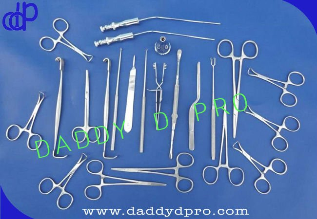 Basic Ear Set Surgical Instruments