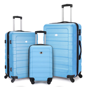 ABS Blue Trolley Case Suitcase Wheeled Luggage Sets