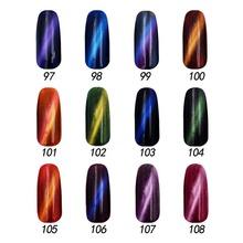 Free shipping 5D Magic Charm Gel Polish 6 pcs MIJIQUAN gel nail polish 15ml 12 colors