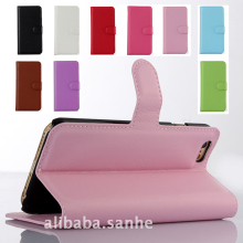 Litchi Wallet Folded Cover PU Leather Phone Case for iPhone 6 6S 6/6S Plus