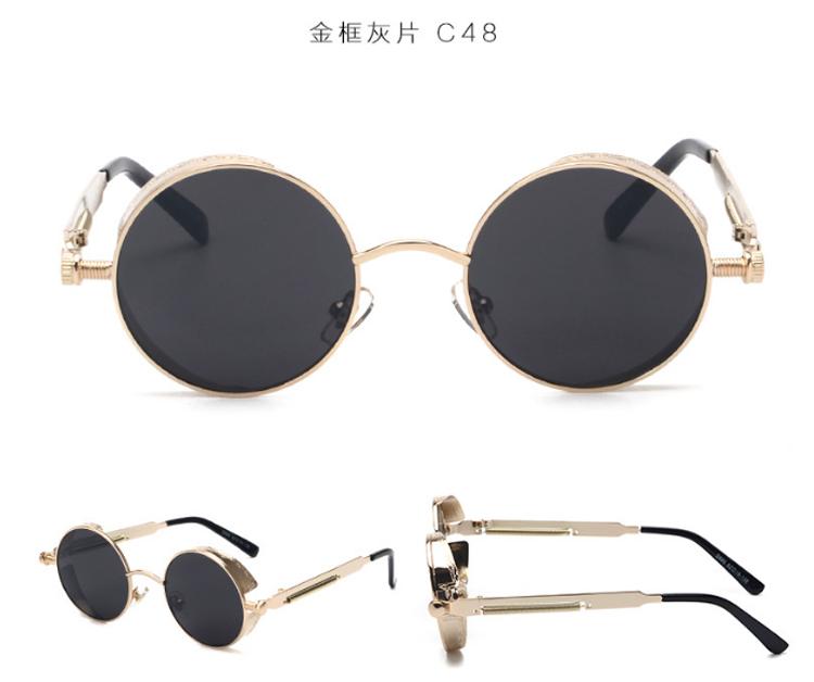 Célèbre ADE WU Haute qualité rétro femmes lunettes de soleil rondes  MK77