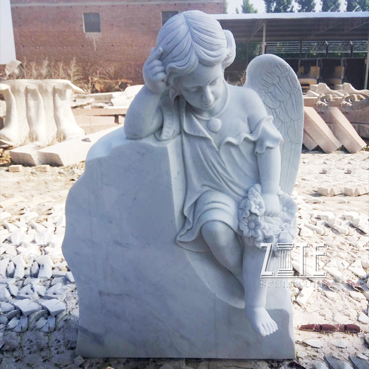 Natural Marble Hand Carved granite grave monument stone