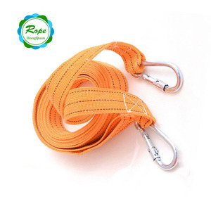 Double layer J buckle cargo lashing winch strap ratchet straps