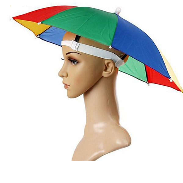 Hat Umbrella Head Umbrella hat for Adults and Kids Safe polyester Head Umbrella for Selling