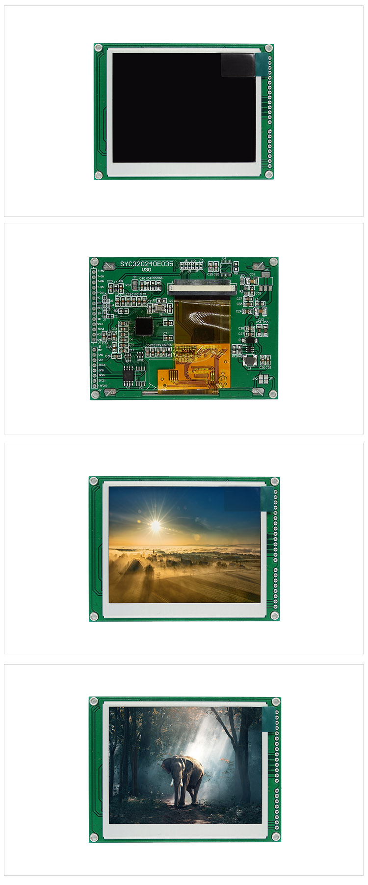 TCC(320240E035) RGB 3.5 inch tft display screen panel 8/14 pin spi interface serial module 320x240 tft lcd screen