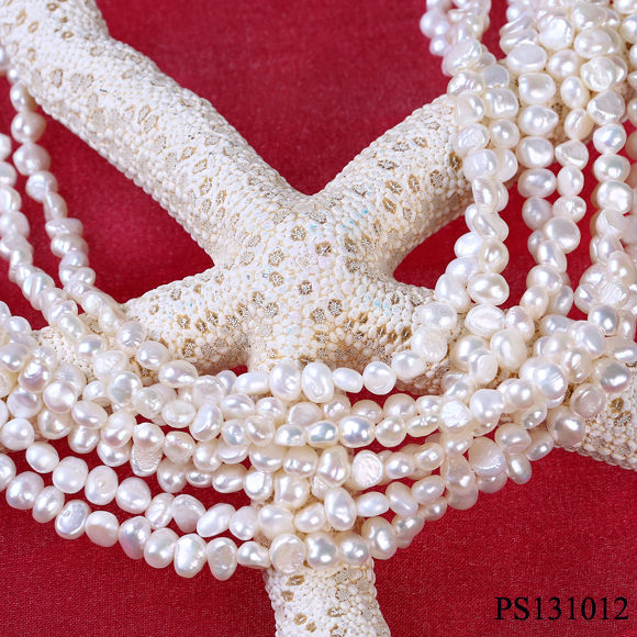 5-6mm AB grade natural pearls strands wholesale