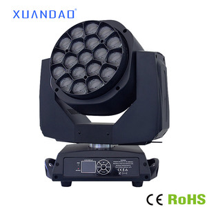 Factory direct K10 B-EYE 4in1RGBW Beam Zoom Bee eye 19x15w led moving head light for DJ night club