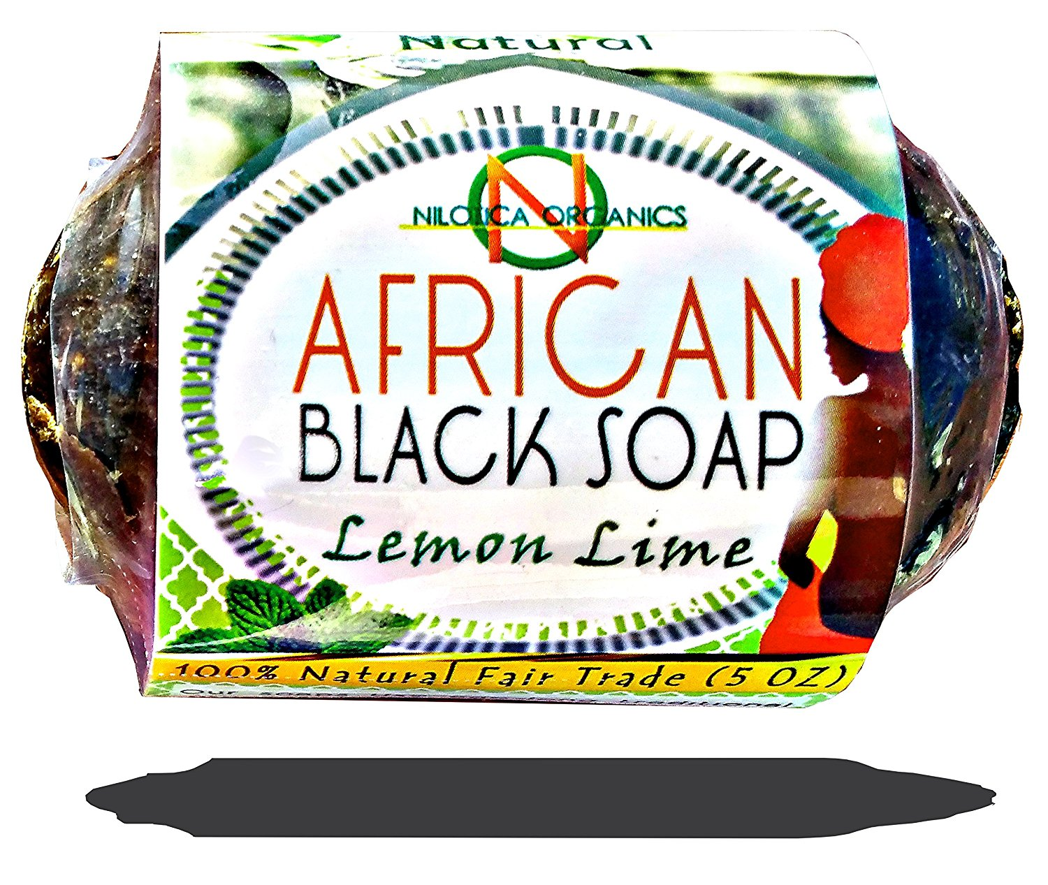 #1 TOP African Black Soap 5 OZ - (100% NATURAL Beauty Bar) Raw Organic Soap Dudu-Osun - for Acne Scars, Dry Skin, Rashes, Scar Removal, Face & Body Wash (Single)