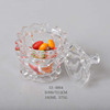 enjoy fast sale glass candy jar with glass lid in different size