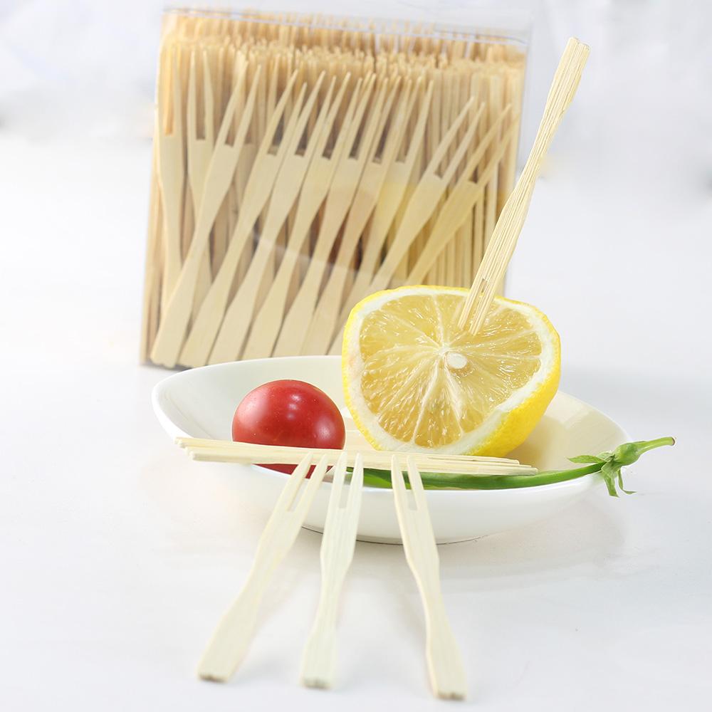 Biologisch afbreekbaar geknoopt berken vork bamboe vork in bulk