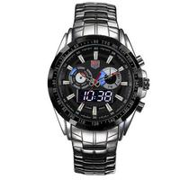 TVG high-end brand Watches Men Led Display Full Steel Quartz Watch Men Fashion Sapphire Waterproof Military Watch