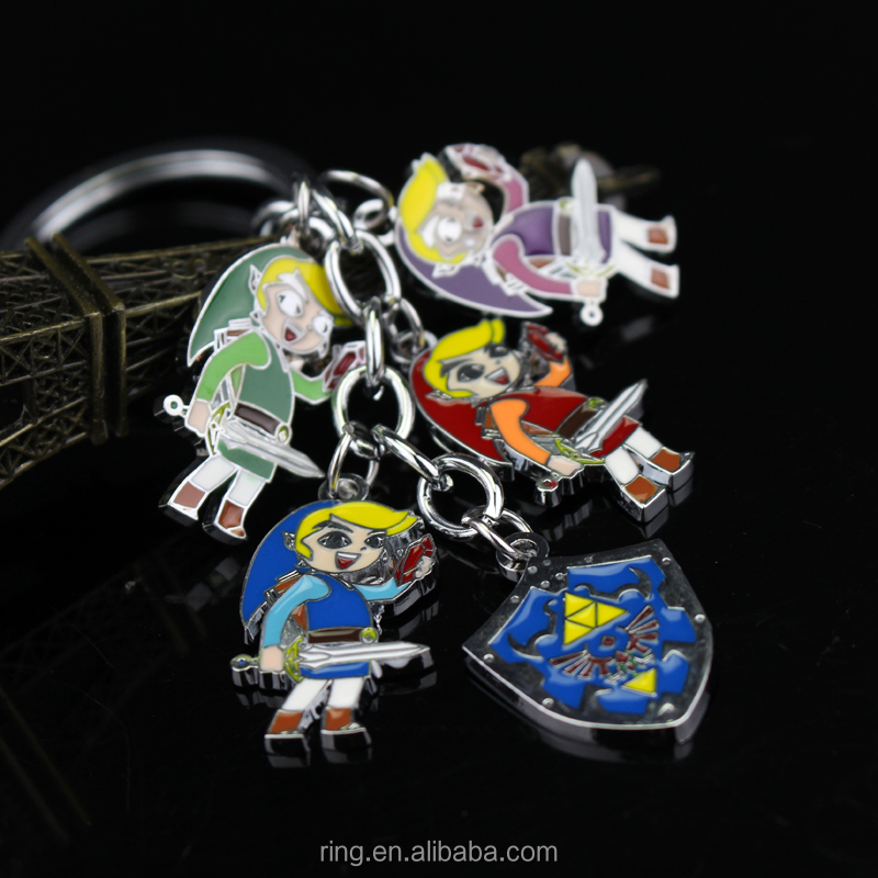 New Anime The Legend of Zelda more color Zelda keychain Metal Figure Pendant keychain A Link Between Two Worlds
