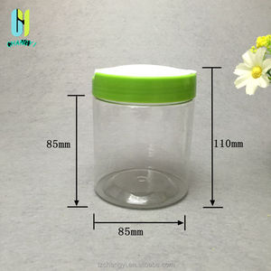 450ml new style PET clear plastic cookie jar and container for food with  open lid