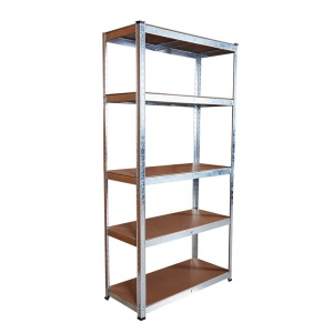 Adjustable 5 shelves garage racking light duty metal shelving garage storage galvanized steel shelf pallet racks