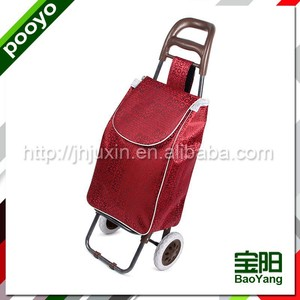 portable folding shopping trolley bag with wheels hot sale shopping trolly