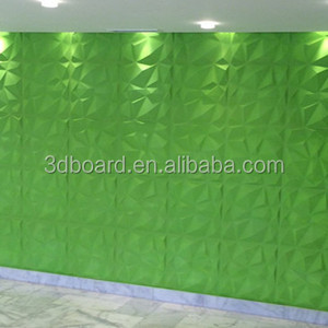 Hotel decor building advertising 3d wall panel 3d board wall tile for project
