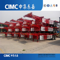 CIMC brand 3 Axles Skeleton Chassis 40FT Flatbed Container/Utility Truck Semi Trailer with Gooseneck