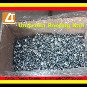 Hot sale roofing nails sell 50kg jute bag packed bwg9x2.5 umbrella roofing nail & Hot Sale Roofing Nails Sell 50kg Jute Bag Packed Bwg9x2.5 Umbrella ... memphite.com