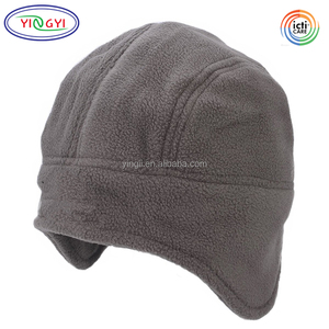C455 Unisex Polar Fleece Earflap Hat Warm Lightweight Men Women Beanie Hat Fleece Cap