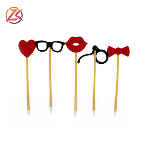 Wholesale cheap photo props glasses new model creative ball pen with different shapes
