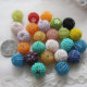 Wholesale Round Glass Seed Bead Knitted Round Hollow Ball Beads For Jewelry Making