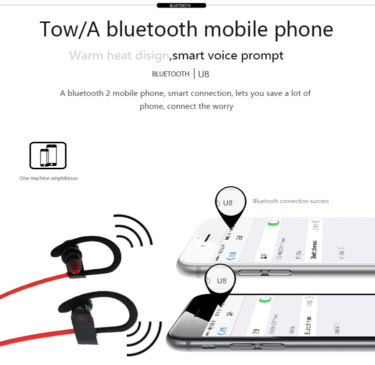 Alibaba hot sales Blue tooth BT headphone of noise reduction headphone sport headset