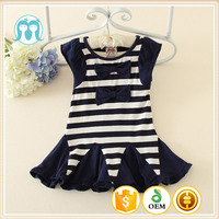 2017 Hot Selling cheap price China Manufacturer summer kids one-piece dress Blue Indian and Pakistan girls clothes fishing cut
