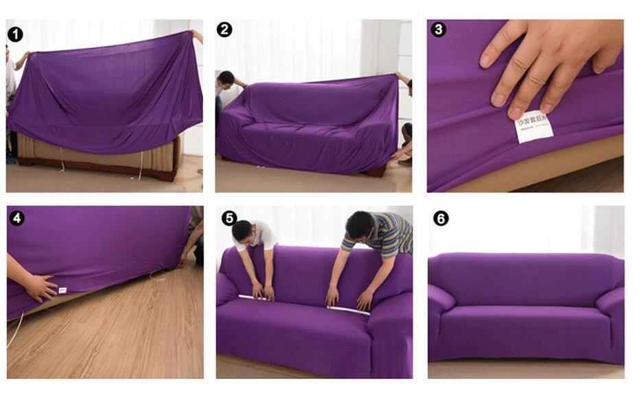 unikea g om trique polyester lastique housse de canap moderne canap couverture pour sofa. Black Bedroom Furniture Sets. Home Design Ideas
