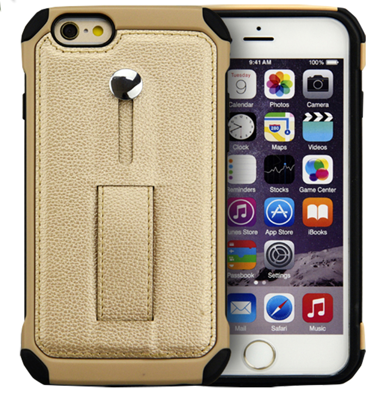 Top Quality Leather Cell Phone Case Cover Luxury Genuine Leather+PC Phone Case for iPhone 6/6 Plus from Guangzhou