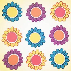 GelGems Sketched Flowers Large Bag Gel Clings