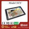 Factory sale 5 inch HD touch screen auto gps model no. 587C with fast 800MHz CPU