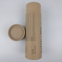 Cylinder cardboard box custom kraft paper tube for cosmetic/wine bottle packaging