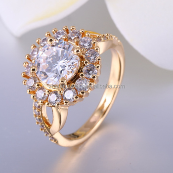 Attractive Price New Type 18k Gold Color Dubai 2 Gram Ring Designs Simple Product On
