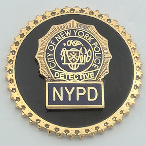 Custom police badge of NYPD 000288