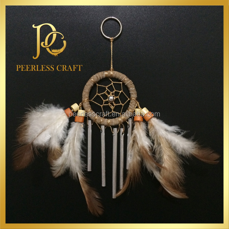 Wind Chime Indian Dream Catcher Keychain