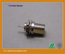 75ohm rf coaxial f connector jack female bulkhead with receptacle