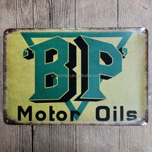 BP Motor Oil vintage metal sign