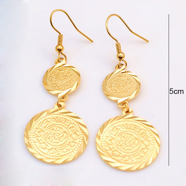 Buy Gold Coin Earring 18k Gold Plated Coins Earrings Wholesale Money