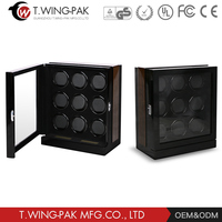 Handcraft Luxury Custom Wooden Box Men's Watches Showcase Automatic Watch Winder for 9 watches
