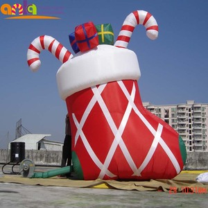 2016 factory direct sale big Christmas stocking inflatable yard decorations