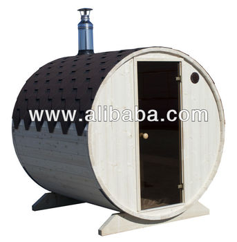 Outdoor Horizontal Barrell Sauna Room