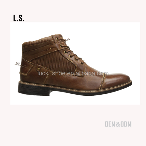 men lace-ups desert leather boots new model original gents shoes cheap price