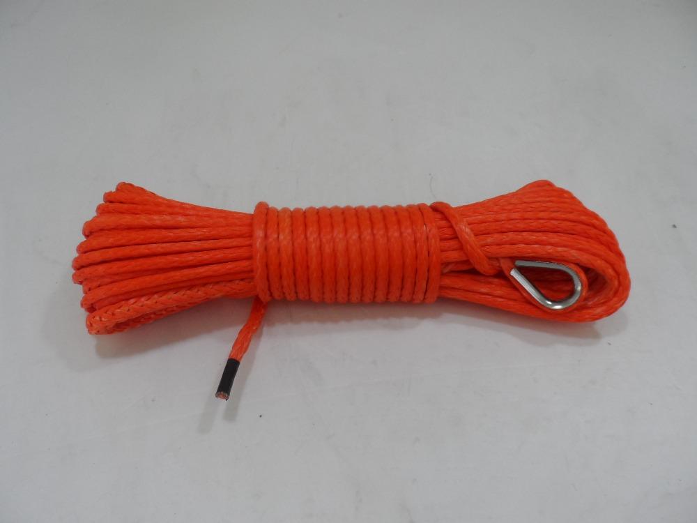 5 мм * 50ft для atv utv лебедки, Лебедка веревки для маленькой электрической лебедки, Свмпэ веревка для бездорожья