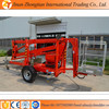 18M Towable boom lift for sale trailer mounted boom lift truck used for cherry picker